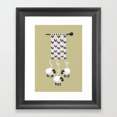 Wool Scarf Framed Art Print