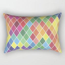 Watercolor Geometric Pattern II Rectangular Pillow