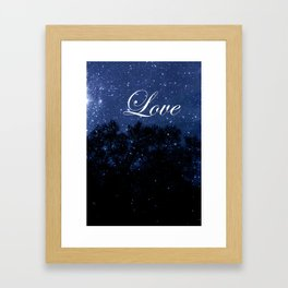 Stargazing For Lovers  Framed Art Print