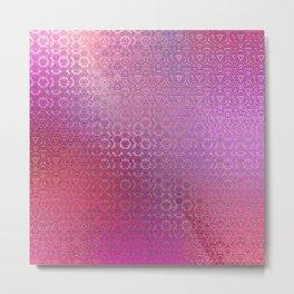 Trinity Pattern (pretty pink) Metal Print