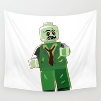 zombie Wall Tapestries featuring Zombie by Emma Harckham