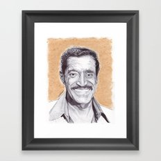 Sammy Davis Jr Pen Drawing  Framed Art Print