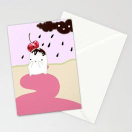 Chocolate Rain Stationery Cards