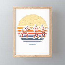 Firefighter Vintage Firefighter Framed Mini Art Print