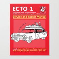 ECTO-1 Service and Repair Manual Canvas Print