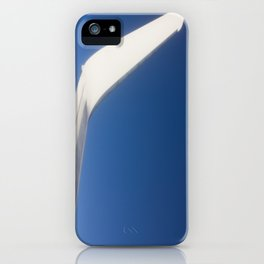 Airplane Wingtip on a blue sky iPhone Case