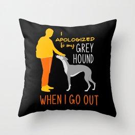 Greyhound, Greyhound gift, Greyhound  galgo Throw Pillow