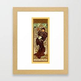 Vintage Alphonse Mucha Lorenzaccio vertical banner Framed Art Print