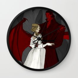 The Demon and the Countess Wall Clock