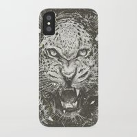 leopard iPhone & iPod Cases featuring LEOPARD by Stefania Grippaldi - IDEAS FLY studio