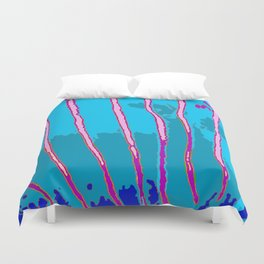 Blue Bongo Stripes Duvet Cover
