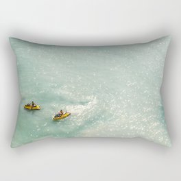 Jet Ski Friends in the Ocean | Paradise | Beach Mood | Aerial Photography | Ocean Print Rectangular Pillow