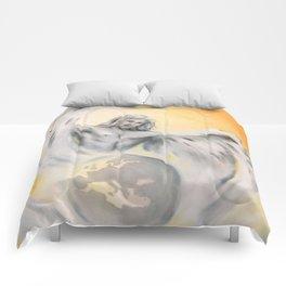 Guardian Angel World Peace - Handpainted Angel Art Comforters