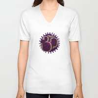 om V-neck T-shirts featuring Om by Annelie Solis
