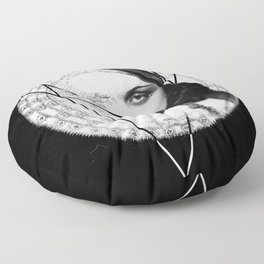 Homuncula: Pola Negri dark Floor Pillow