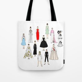 Audrey Fashion Whimsical Layout Tote Bag
