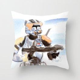 Commander Cody Throw Pillow