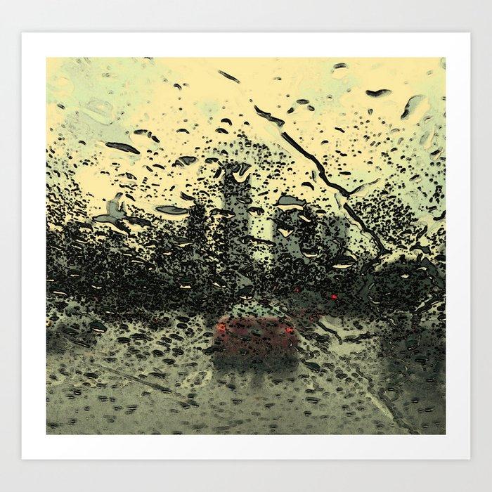 Columbus Drive on a Rainy Summer Day Art Print