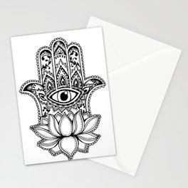 Hamsa Lotus Stationery Cards