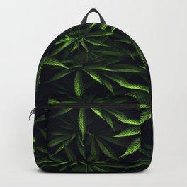 Weed leafs - Cannabis field Backpack