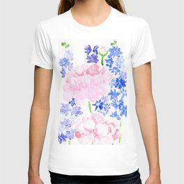 Peonies and Delphiniums T-shirt