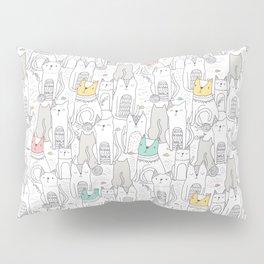 Doodle Cats Pillow Sham