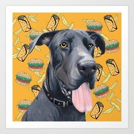 Burgers and Burritos Art Print