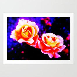 Psychedelic Roses Art Print