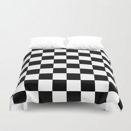Black & White Checker Checkerboard Checkers Duvet Cover