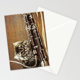 Music was my first love - cat and bassoon Stationery Cards
