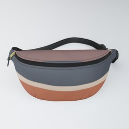 An unparagoned variation of Dark Vanilla, Charcoal Grey, Brown (Crayola) and Dark Taupe stripes. Fanny Pack