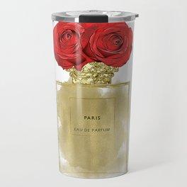 Red Roses & Fashion Perfume Bottle Travel Mug