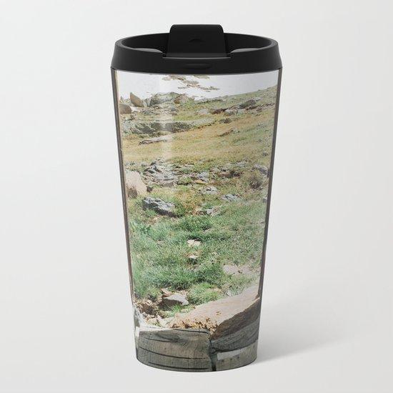 Colorado Mountain Cabin Metal Travel Mug