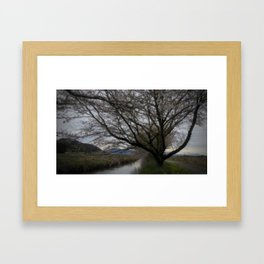 Dark Canal Framed Art Print