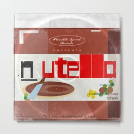 Nutella: unedited bonus tracks Metal Print