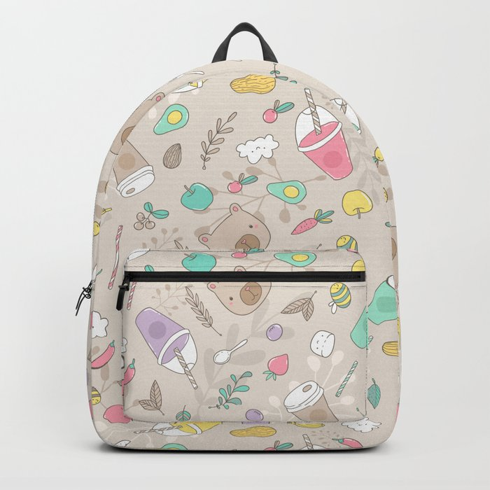 Bears and smoothie Backpack