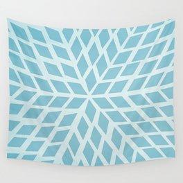 Light blue, diamond, mosaic pattern. Moroccan tile. Wall Tapestry