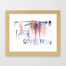 Do Not Open #2 Framed Art Print