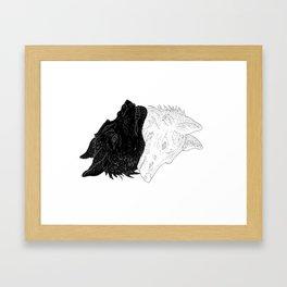 Split Personality Framed Art Print