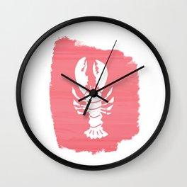 Block Print Lobster Wall Clock