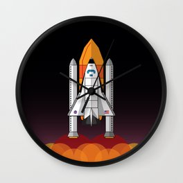 Space Shuttle night launch Wall Clock