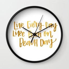 Pam Beesly Print Wall Clock