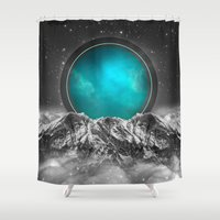 stargate Shower Curtains featuring Fade Away (Lunar Eclipse) by soaring anchor designs