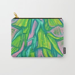 Australian Bird Flower Tropical Floral Abstract Botanical Pink Turquoise Carry-All Pouch
