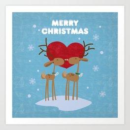 Merry Christmas my deer! Art Print