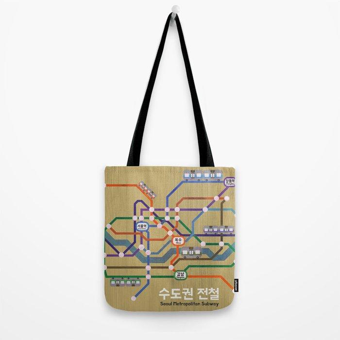 Seoul Metro Tote Bag