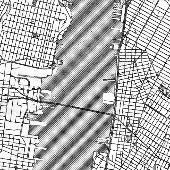 New York Map Line Leggings