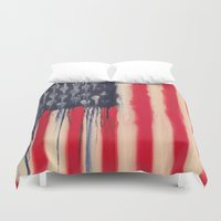 america Duvet Covers featuring America  by Matt Pecson