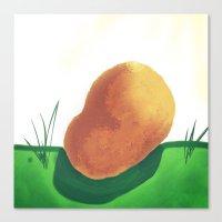 potato Canvas Prints featuring Potato by Mark Jobriel