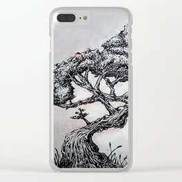 Stripple Tree Clear iPhone Case